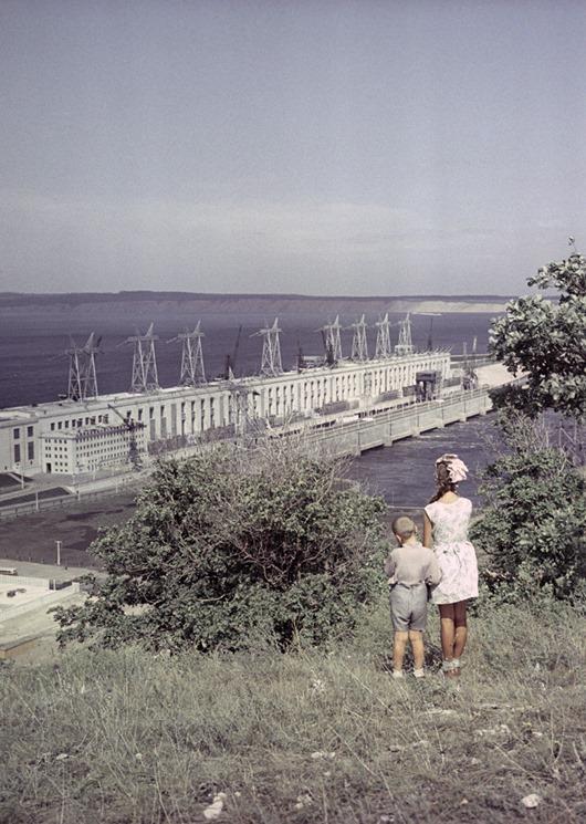 Вид на Волжскую ГЭС имени В.И. Ленина