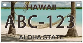 New Hawaii license plate