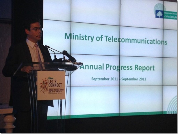 Minister Nicolas Sehnaoui Annual Progress