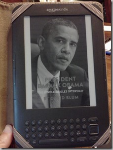 Obama Kindle single