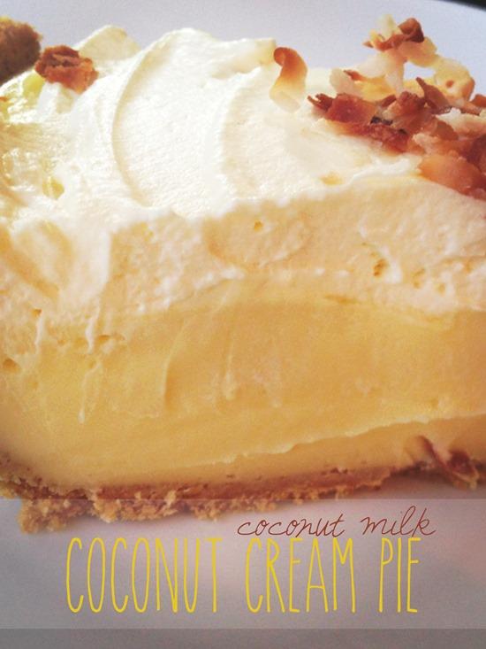Coconut Milk Coconut Cream Pie