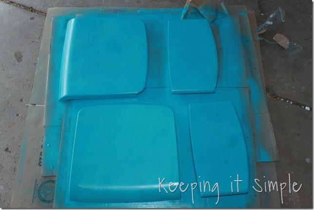 ikea chevron turquoise barstool (7)