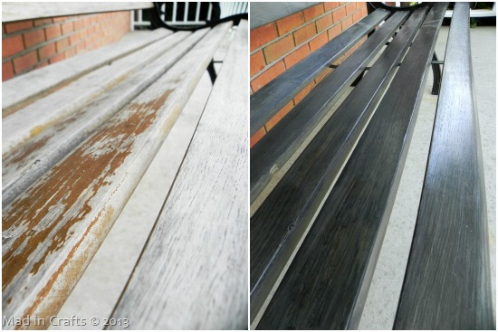 Bench Slats before and after