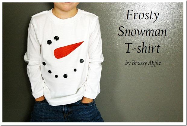 givré tutoriel chemise de bonhomme de neige