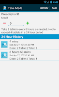 Screenshot of Med Helper Pill Reminder