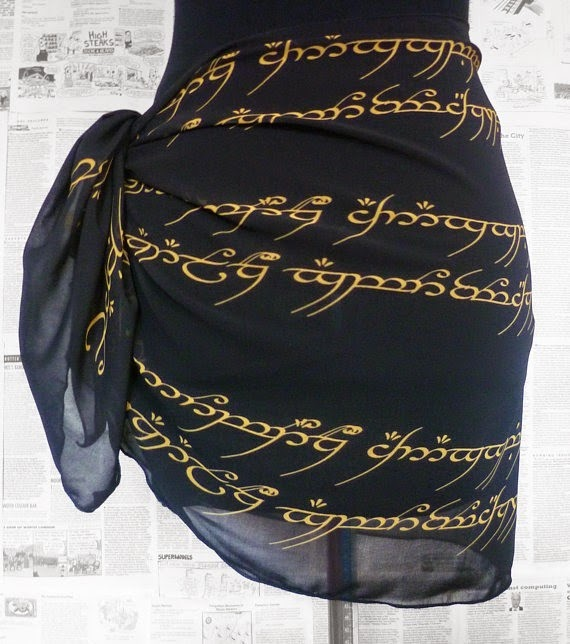 Lord of the Rings Sarong from Rooby Lane