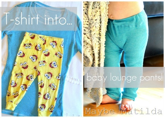 T-shirt into Baby PJ Pants