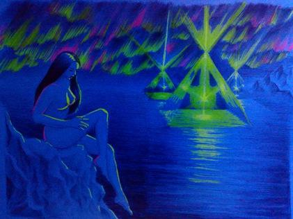 Femeie din atlantida si efect de piramida - atlantis woman and pyramid effect