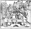 Woodcut Of Seller Of Theriac From Hieronymus Braunschweig 1500