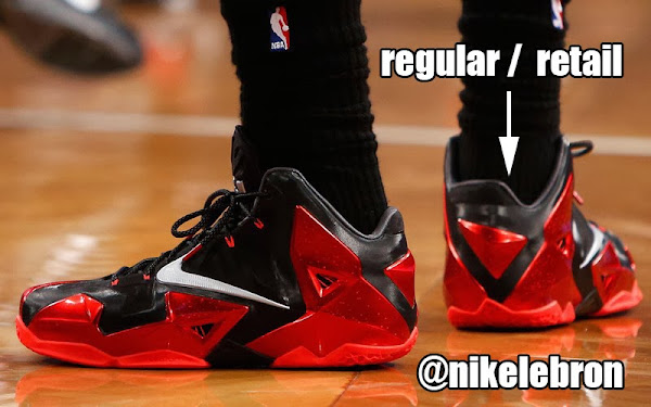 Nike LeBron 11 Comparison 8211 Regular GR vs Redefined PE