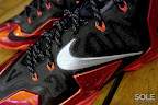 nike lebron 11 gr black red 11 01 New Photos // Nike LeBron XI Miami Heat (616175 001)