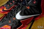 nike lebron 11 gr black red 11 01 New Photos // Nike LeBron XI Miami Heat (616175 001)
