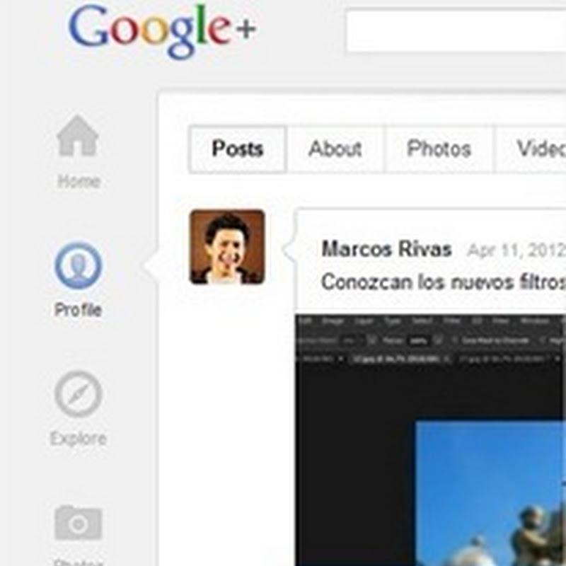 Analizando la nueva interfaz de Google+