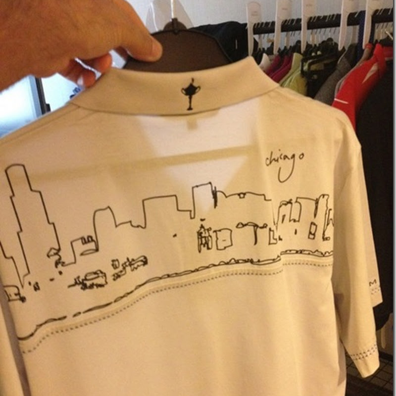 Europe's Chicago Skyline Shirts. Ollie's Been Busy With The Sharpie