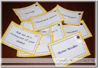 Birthday Board Dinner Cards {A Sprinkle of This . . . . A Dash of That}