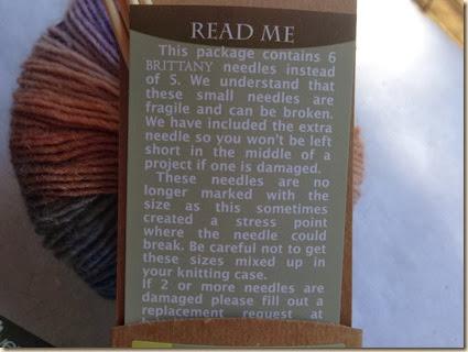 #2 bamboo needles