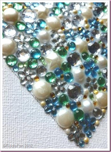 Jewelled Canvas Heart..