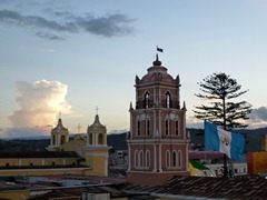Huehuetenango city centre from our rooftop.