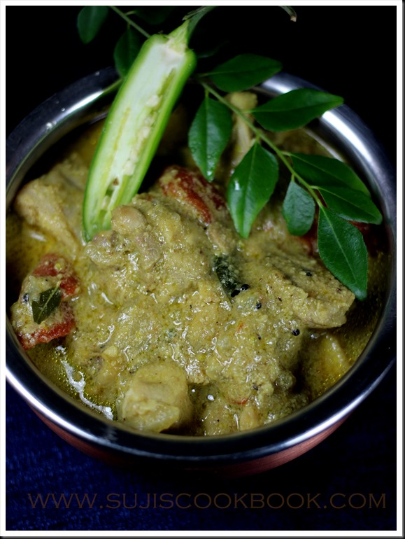 Green chilly chicken curry