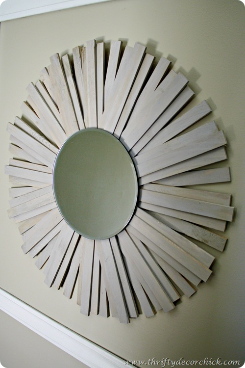 DIY sunburst mirror Ballard knock off