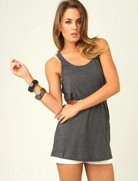 relaxed fit singlet charcoal