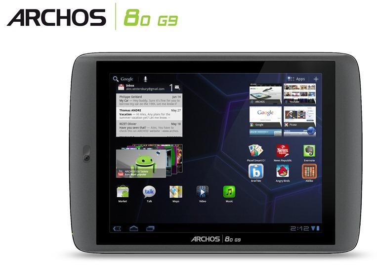 ARCHOS 80 G9_face