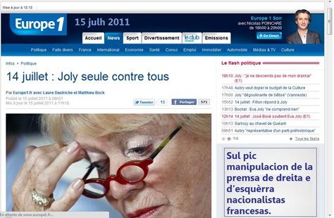 Eva Joly Manipulacion del nacionalisme francés