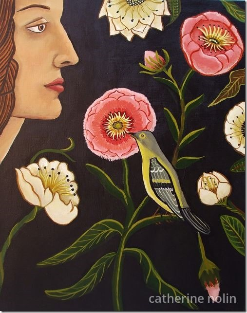 Right Under Your Nose 9x12 acrylic on canvas by Catherine Nolin 2014