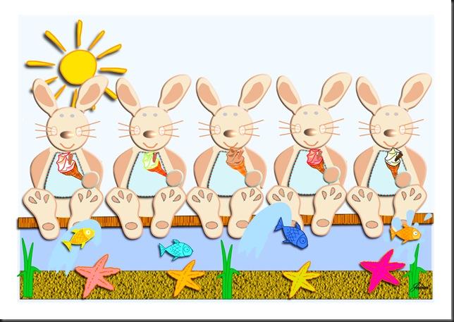 bunny five fish