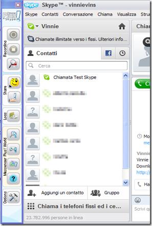 Messenger Plus per Skype Toolbar su Skype