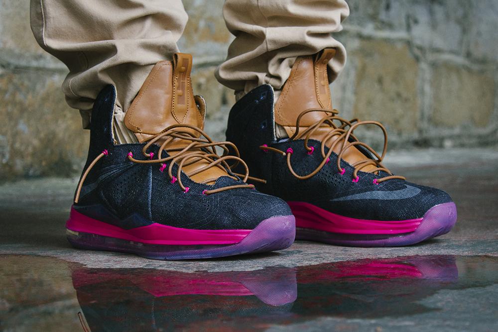 Nike Lebron 10 X EXT QS Denim Mid Navy