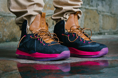 nike lebron 10 sportswear pe denim 11 01 Another On Foot Look at Nike LeBron X EXT Denim QS
