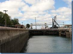 4969 Michigan - Sault Sainte Marie, MI -  St Marys River - Soo Locks Boat Tours - inside MacArthur Lock