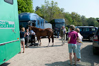 Busy times as more and more horses and riders turn up at the village hall