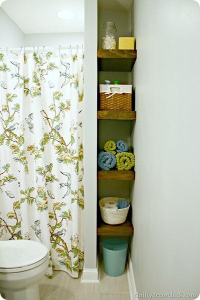 DIY floating wood shelves