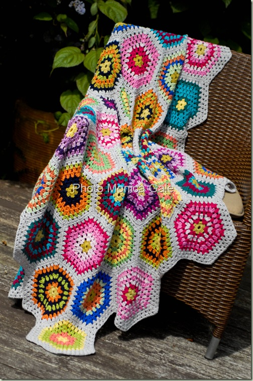 crochet hexagon blanket 2