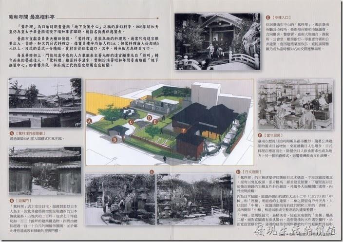 台南-鶯料理文宣背面