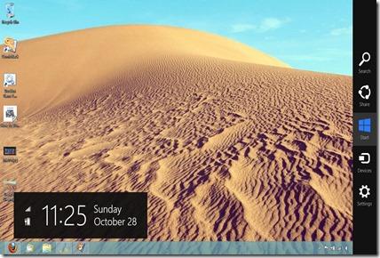 Desktop Popup Menu