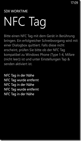 Windows Phone 8 NFC app