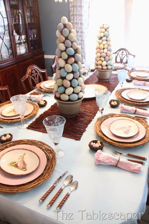 Rustic Rabbits Easter Tablescape - The Tablescaper01