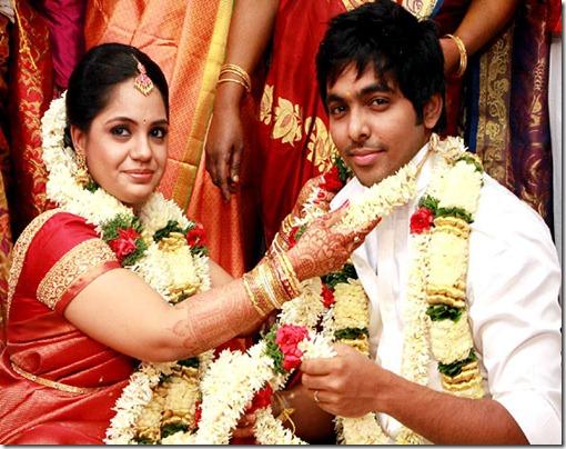 Music Director GV Prakash Kumar Saindhavi wedding