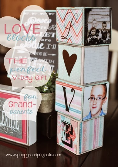 DIY Valentine Gift Ideas - LOVE blocks