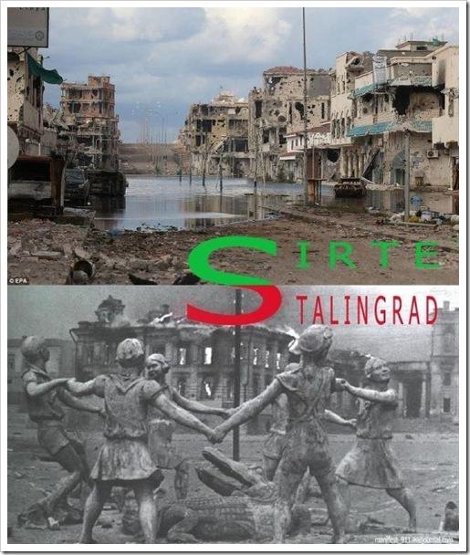 Libia - crimini contro l'umanita - Sirte come Stalingrad