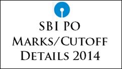 SBI PO Marks - Cutoff 2014