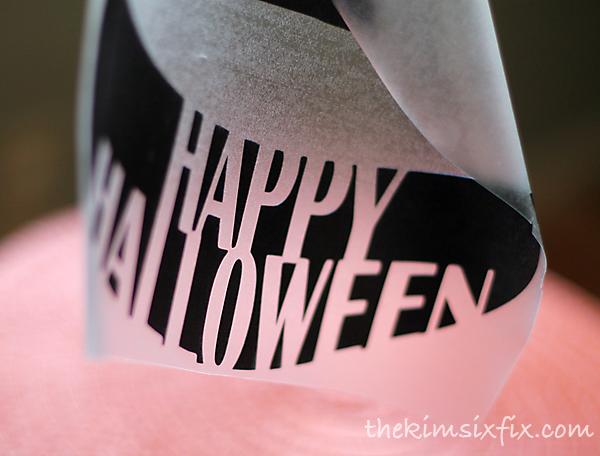 Happy halloween pumpkin vinyl
