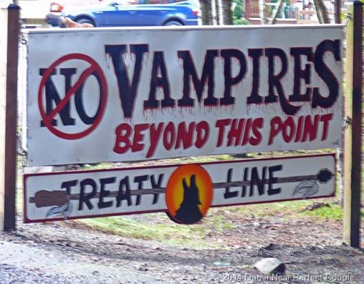 No Vampires Sign