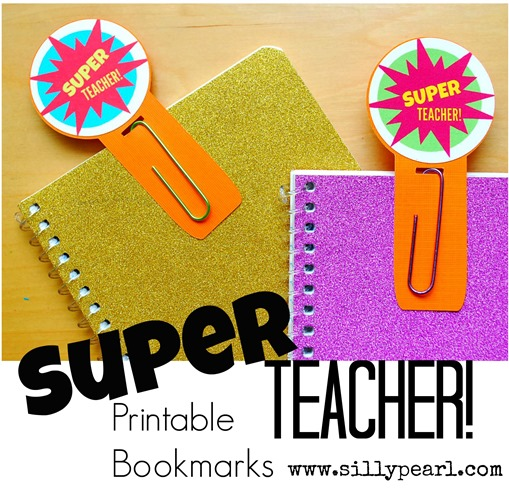 Super Teacher Printable Bookmarks -- The Silly Pearl