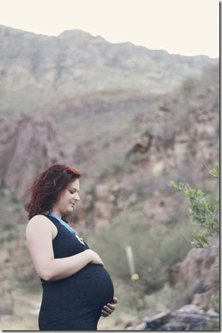 Me and My SoldierMan Maternity Pics El Paso desert