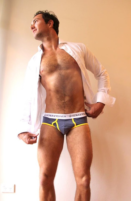 guy in gray the navy diver briefs