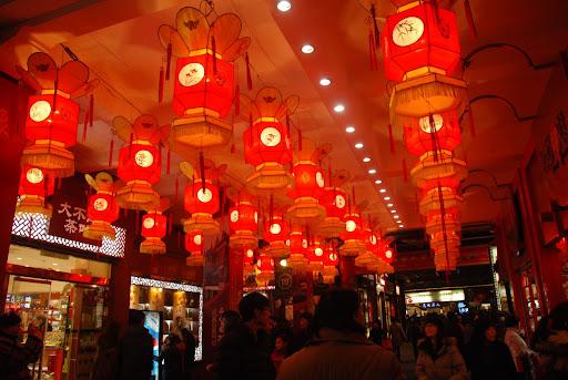 Shanghai Fête des Lanternes 2012 - Lanternes rouges suspendues
